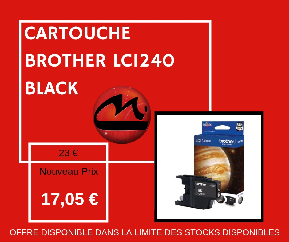 CARTOUCHE BROTHER LC 1240 BLACK