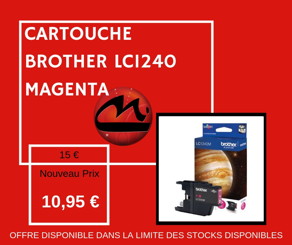 CARTOUCHE BROTHER LC 1240 MAGENTA