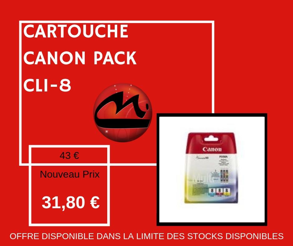 CARTOUCHE CANON PACK CLI-8