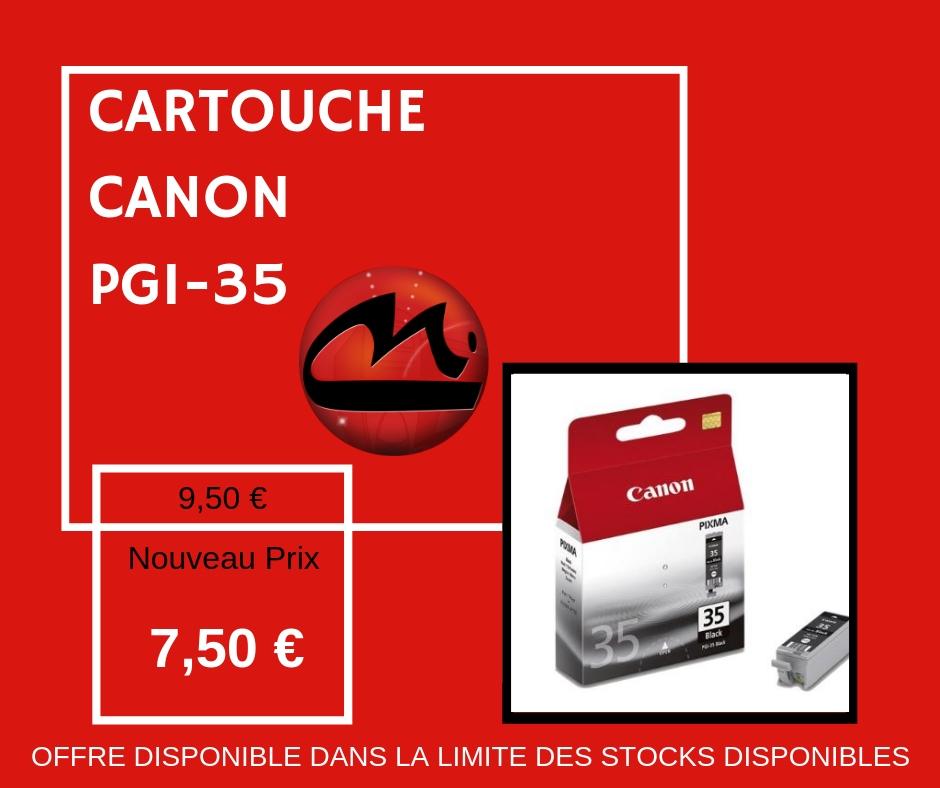 CARTOUCHE CANON PGI-35